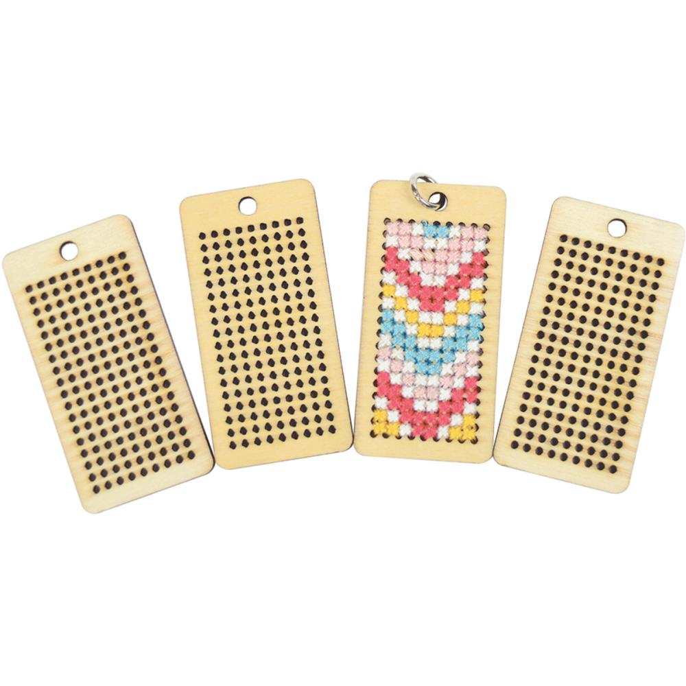 Tag Cross Stitch Pendants