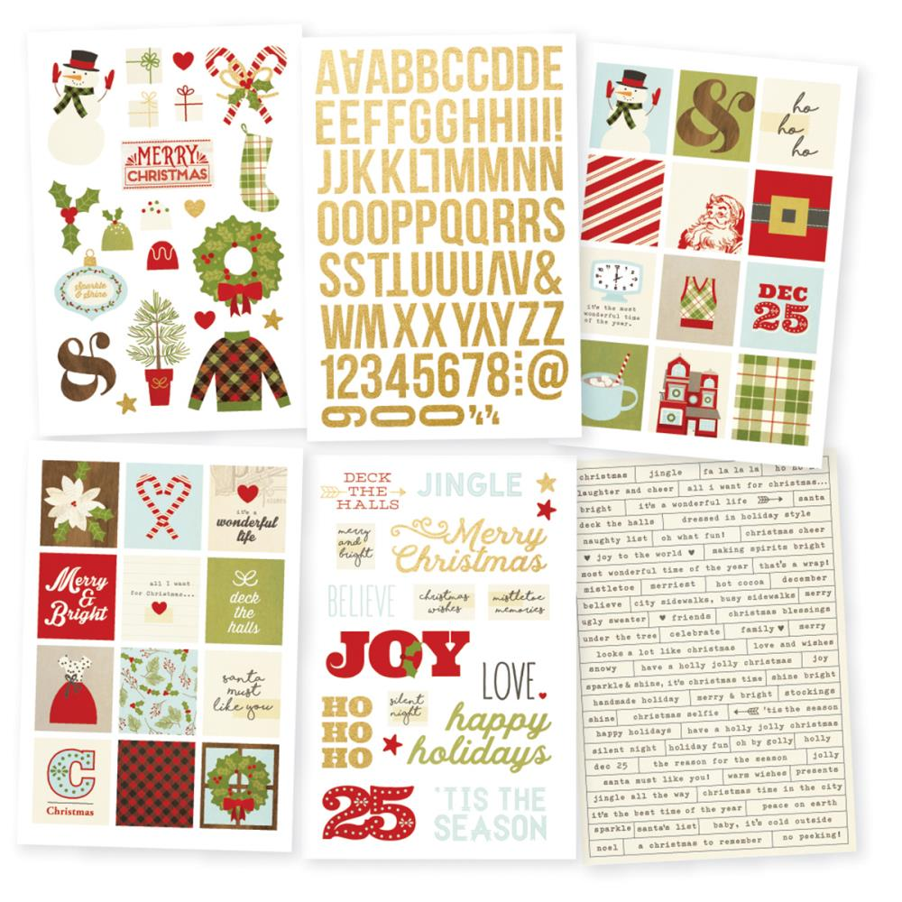 Simple Stories - Classic Christmas Stickers