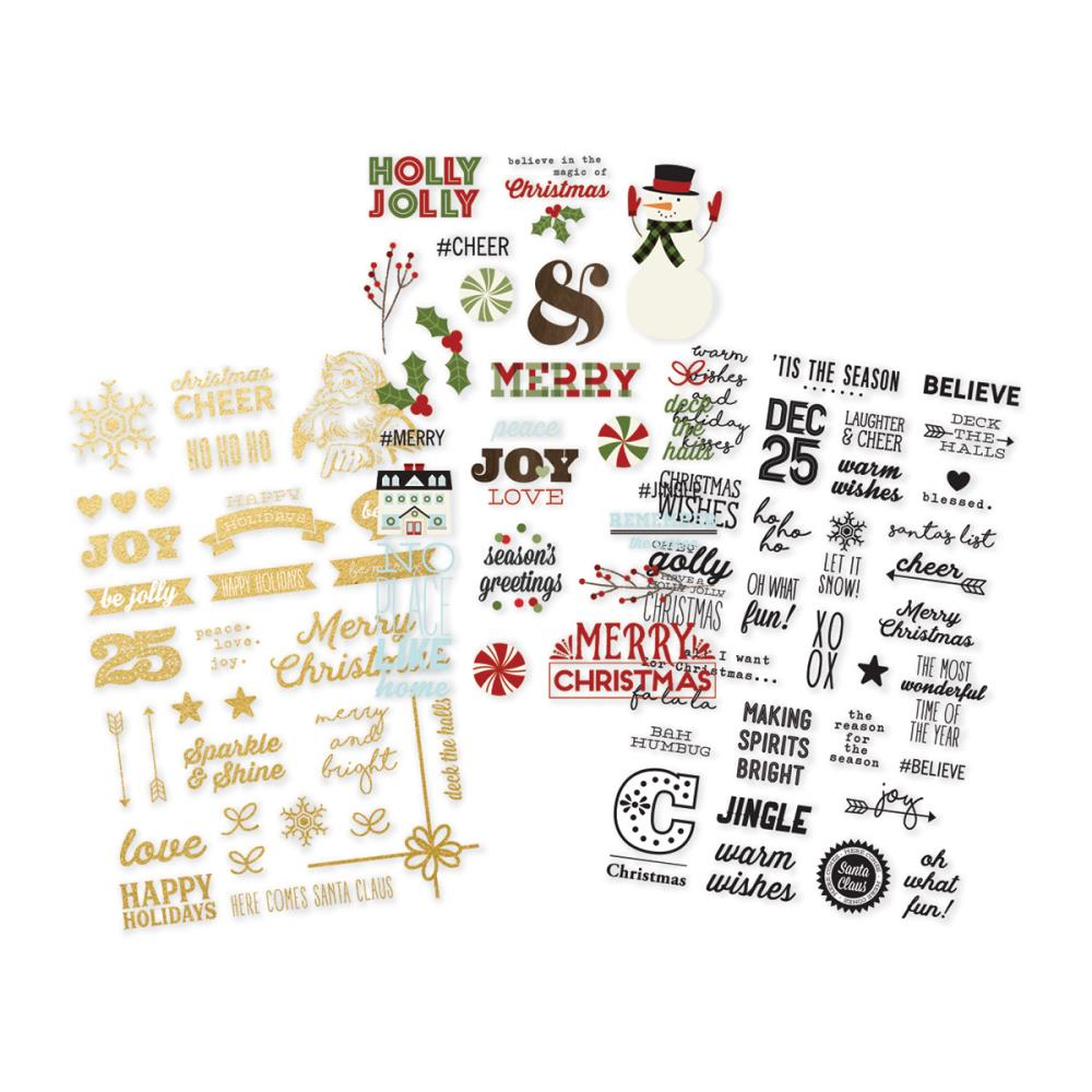 Simple Stories - Classic Christmas Clear Stickers
