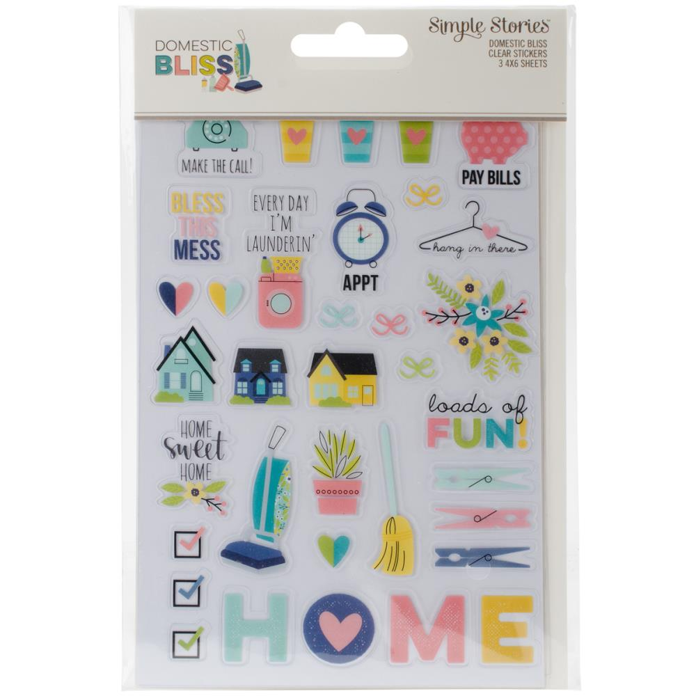 Simple Stories - Domestic Bliss Clear Stickers