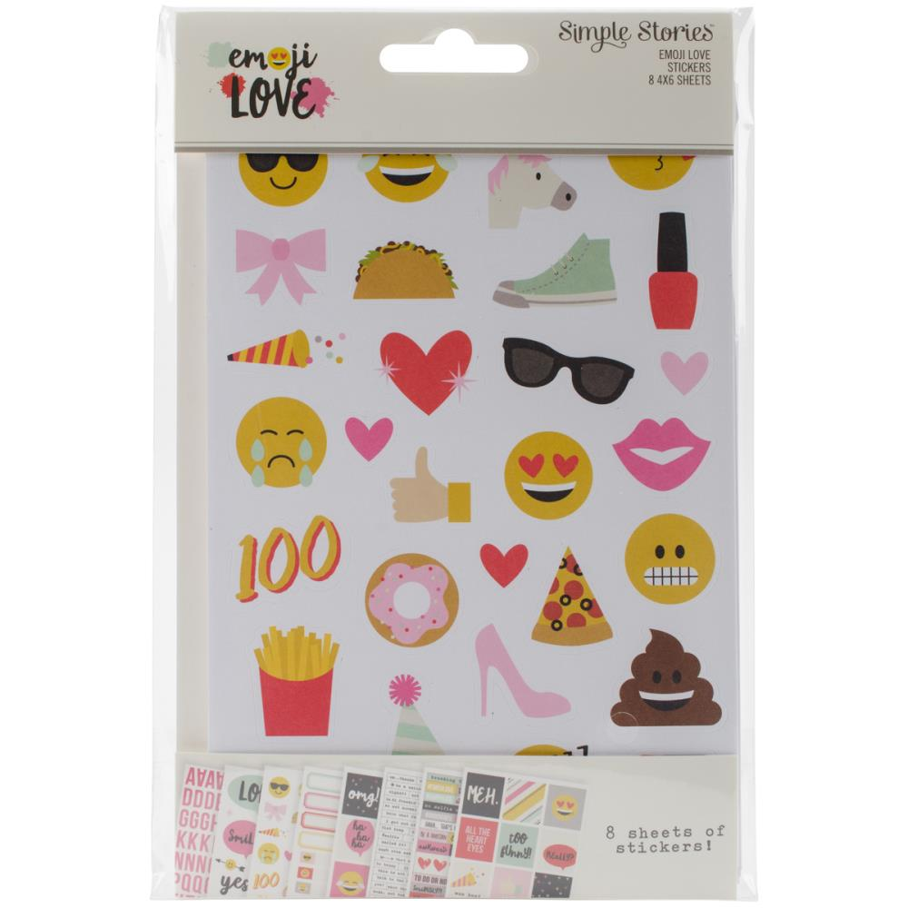 Simple Stories - Emoji Love Stickers