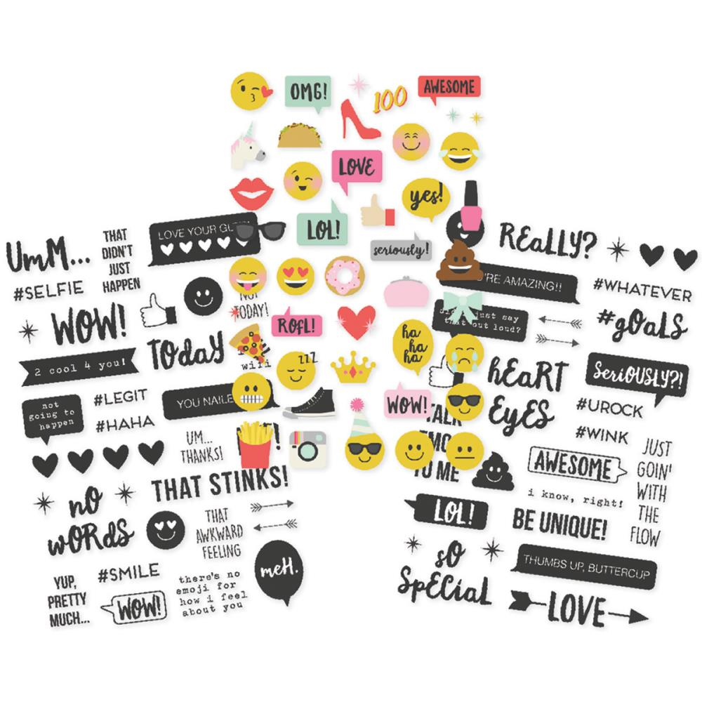Simple Stories - Emoji Love Clear Stickers