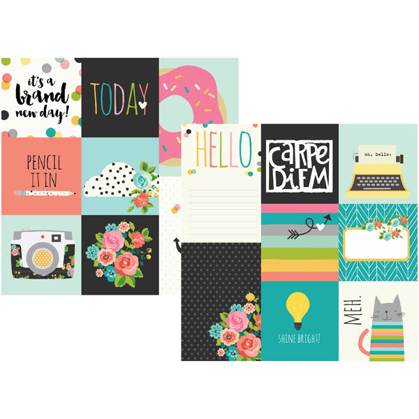 Carpe Diem Paper -  4x4 & 4x6 Vertical Elements