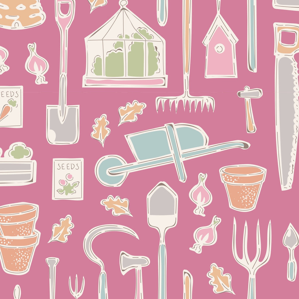 Tilda - Tiny Farm - Farm Tools Pink
