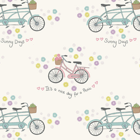 Picnic in The Park - Lewis & Irene - Bicycles White