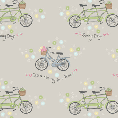 Picnic in The Park - Lewis & Irene - Bicycles Grey