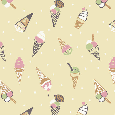 Picnic in The Park - Lewis & Irene - Ice Cream Cones Yellow