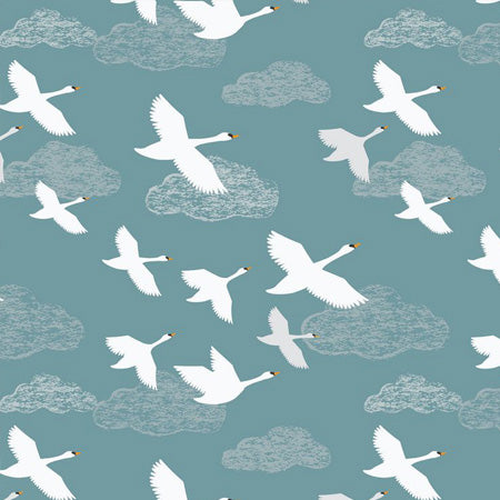 Down By The River - Lewis & Irene - Swan in Flight Teal
