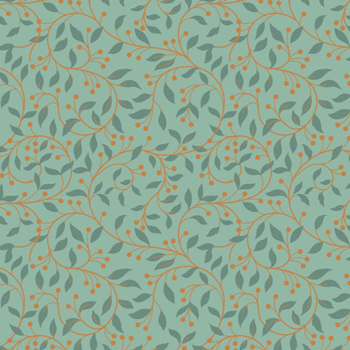 Chieveley - Lewis & Irene - Garland Swirl Sage - Metallic