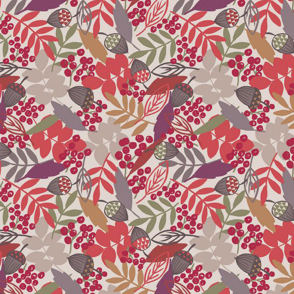 Autumn Fields - Lewis & Irene - Acorn & Leaves Cream