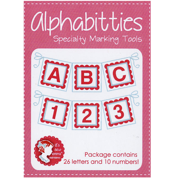 Pink Alphabitties by Its Sew Emma
