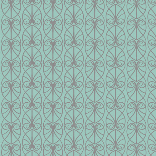 April Showers - Lewis & Irene - Parisian Fretwork - Aqua - BOLT END