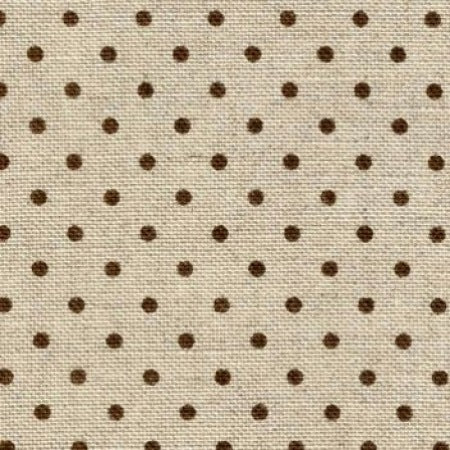Zweigart Belfast 32 Count Linen Evenweave - Natural & Brown Dot