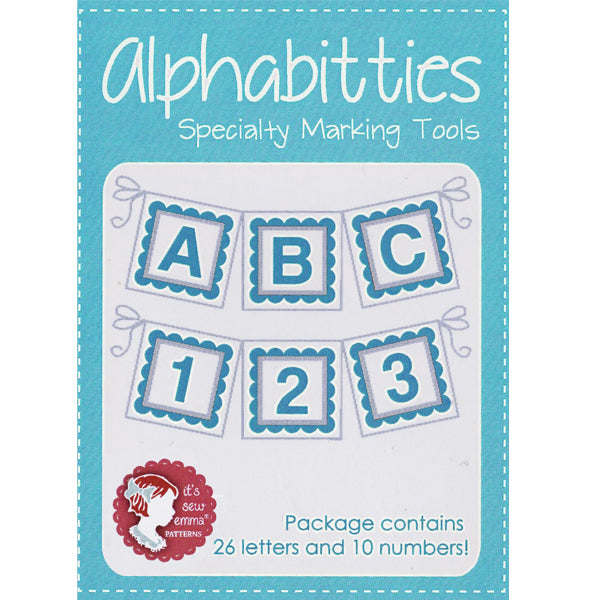 Blue Alphabitties by Its Sew Emma