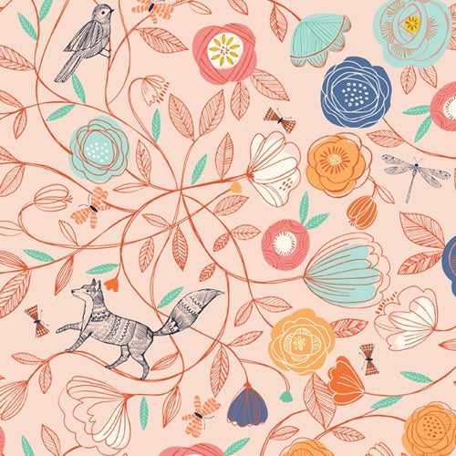 Boho Meadow - Dashwood Studio - Pink Floral - BOLT END
