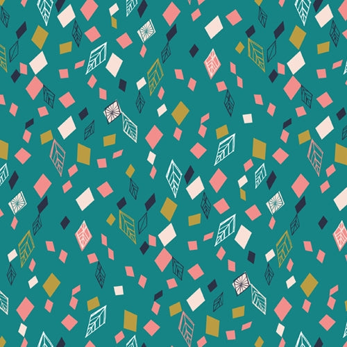 Boho Meadow - Dashwood Studio - Teal Leaves
