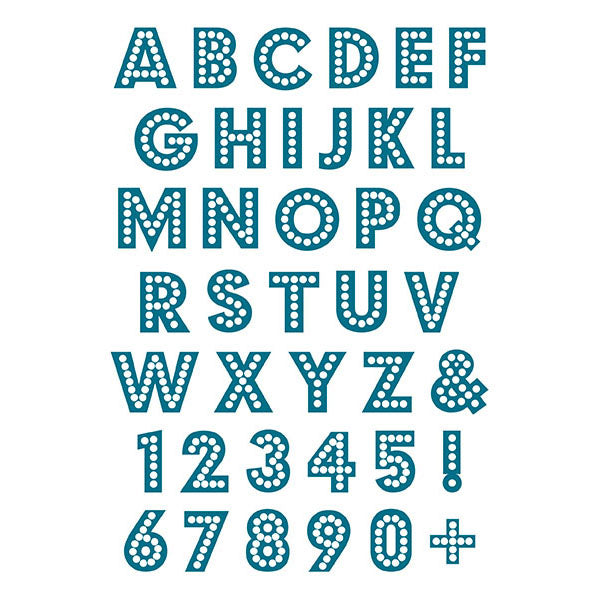 Bright Lights Alphabet Acrylic Stamp Set