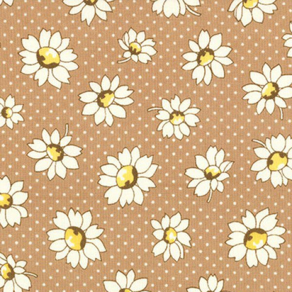 Lecien Retro 30s 2016 - Brown Dotty Flower