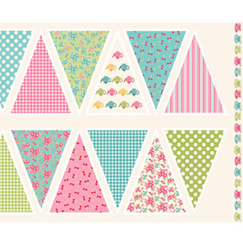 Tea Party - Makower - Bunting Panel