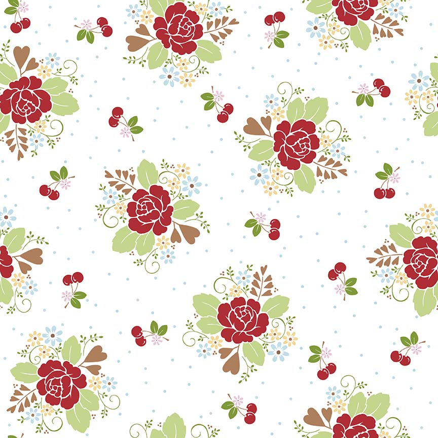 Sew Cherry 2 - Lori Holt - Main White