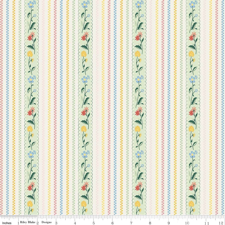 Bunnies & Cream - Bunnies Stripe Mint