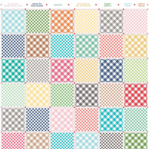 Bee Basics - Lori Holt - Backgrounds Busy Patchwork White