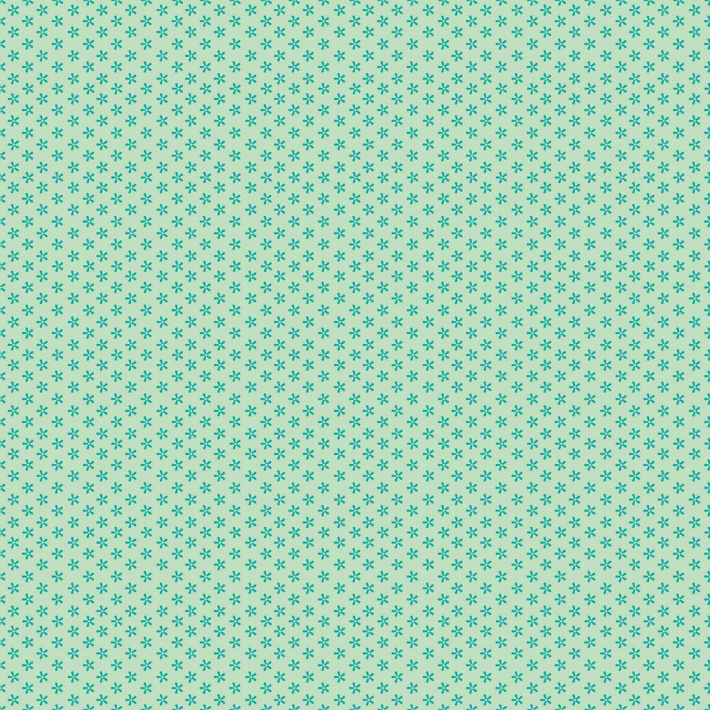 Bee Basics - Lori Holt - Tiny Daisy Teal