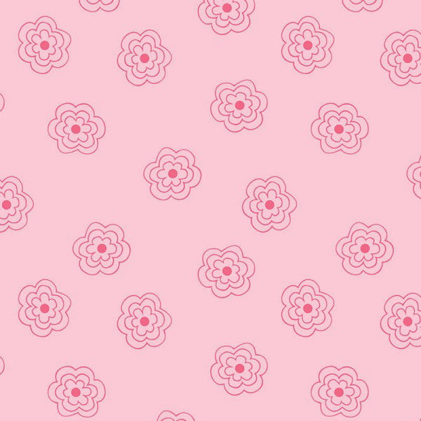 Bee Basics - Lori Holt - Blossoms Pink