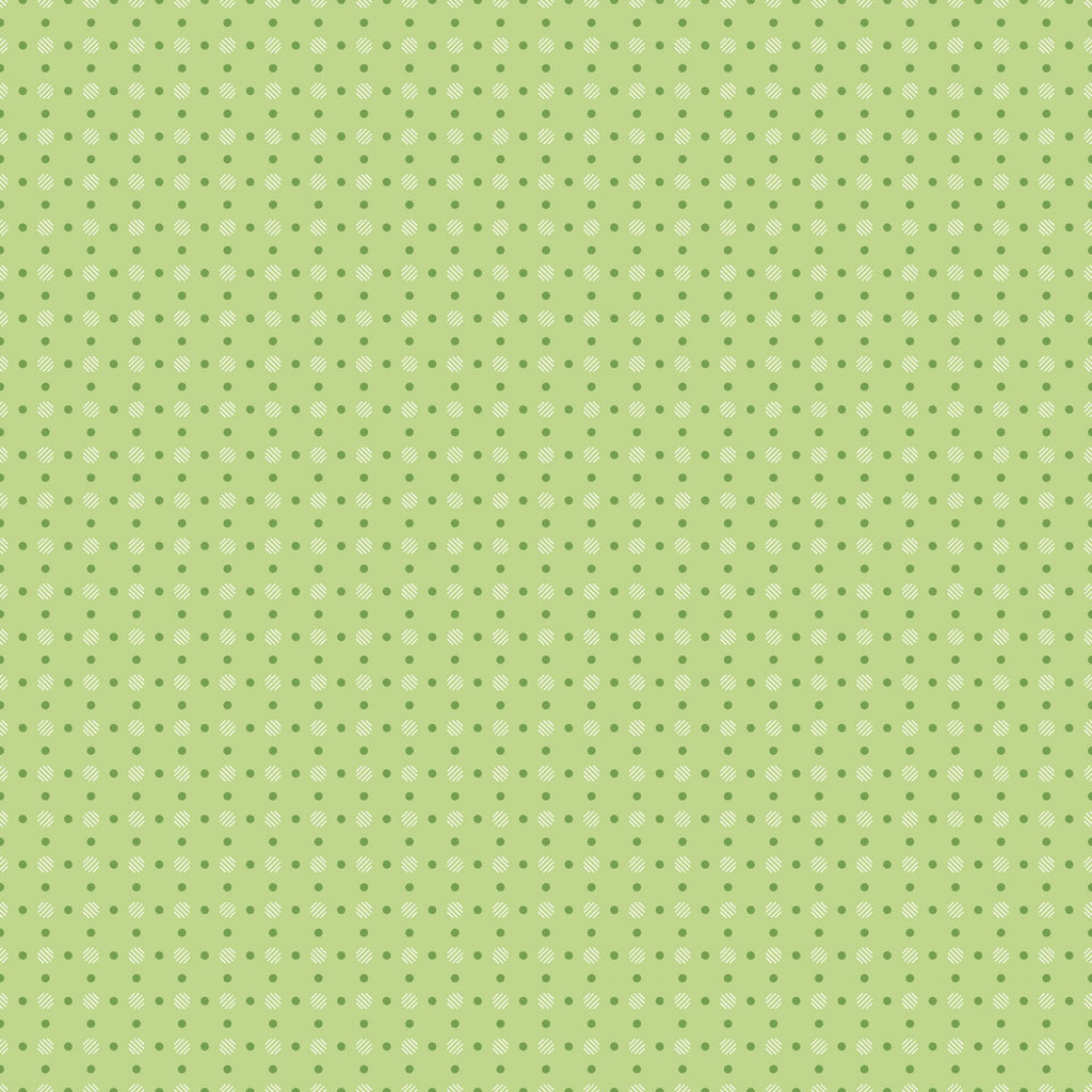 Bee Basics - Lori Holt - Polka Dot Green