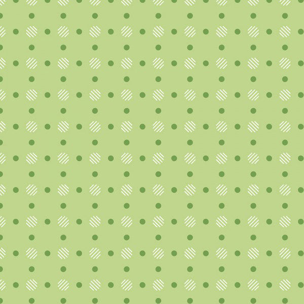 Bee Basics - Lori Holt - Polka Dot Green - BOLT END