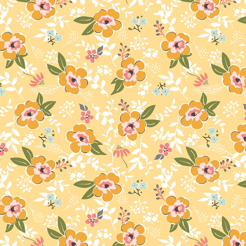 Sweet Prairie - Sedef Imer - Main Floral Yellow