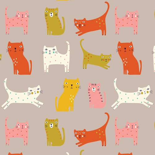 Cool for Cats - Dashwood Studio - Cats on Grey