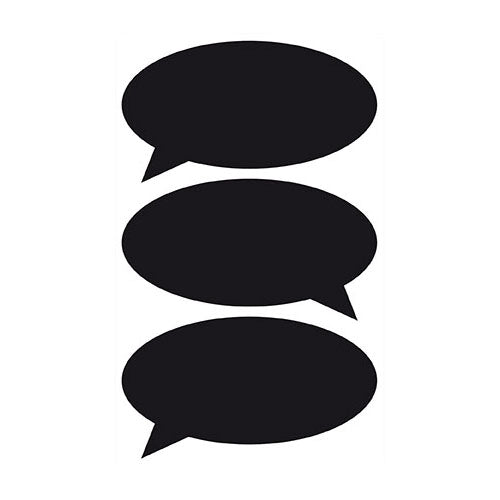 Chalkboard Speech Bubble Stickers
