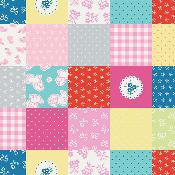 Strawberry Biscuit - Green Patchwork