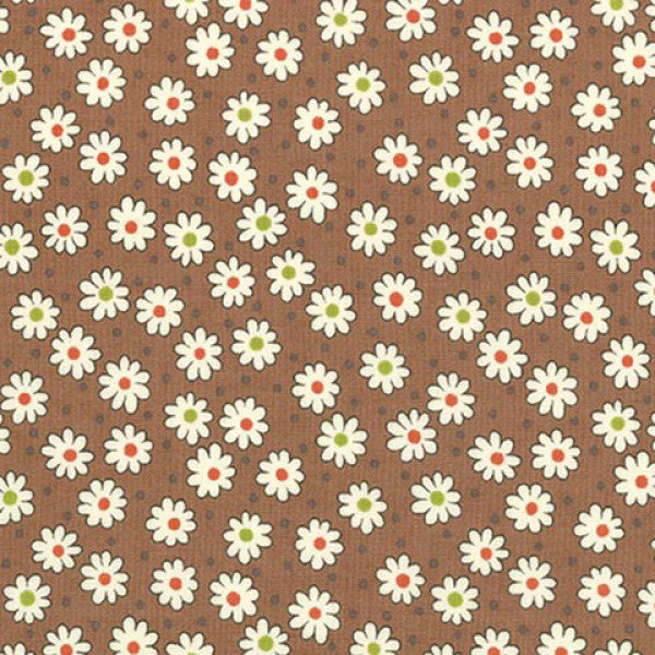 Lecien Retro 30s 2016 - Brown Little Daisy