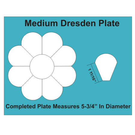 Paper Pieces - 8 inch Dresden Plate