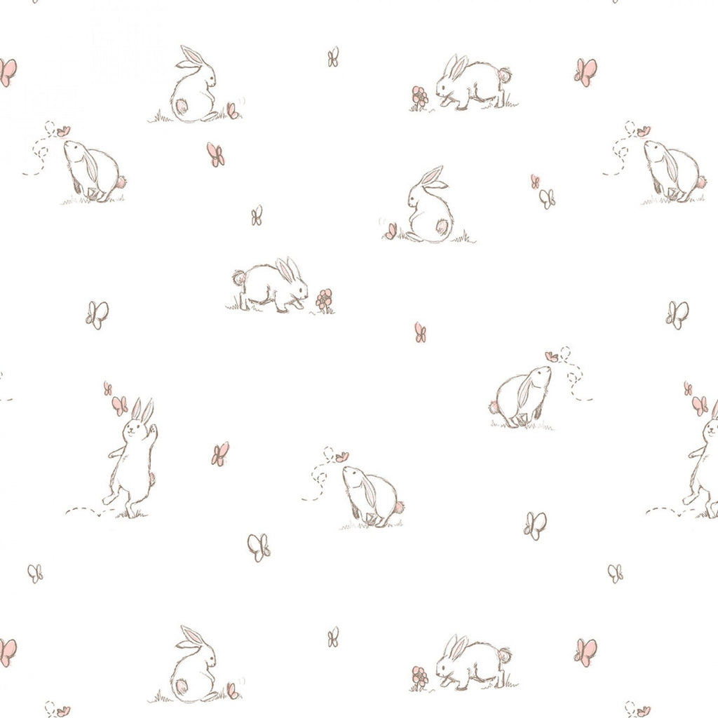 Pink Bunny Double Gauze - By the Half Metre