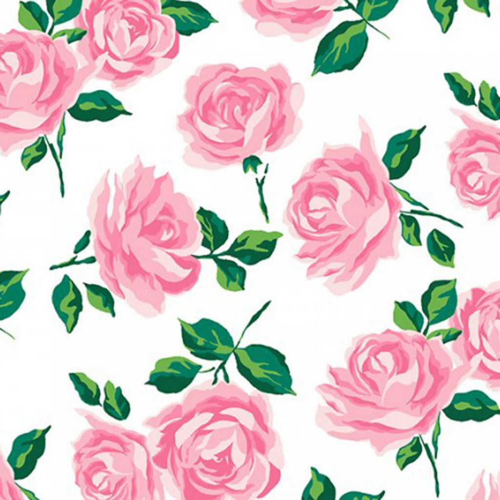 Pink Rose Garden Embrace Double Gauze - By the Half Metre