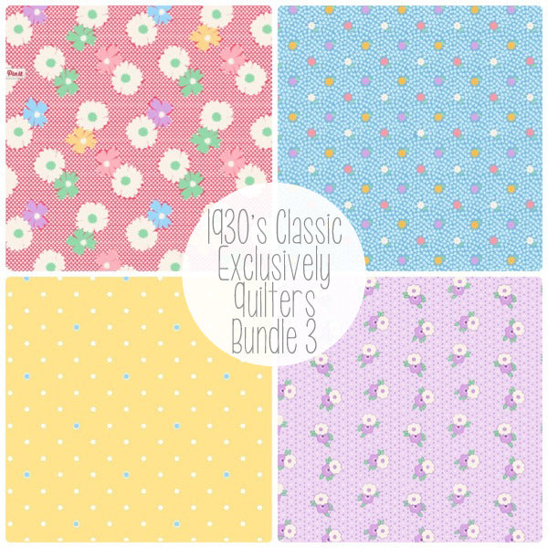 Exclusively Quilters - 1930's Classic - Fabric Bundle 3