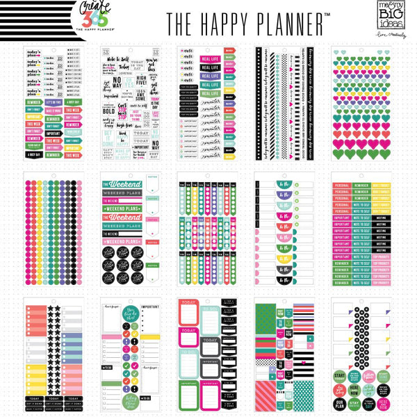 MAMBI Create 365 - Bumper Value Pack Stickers - Everyday Plans