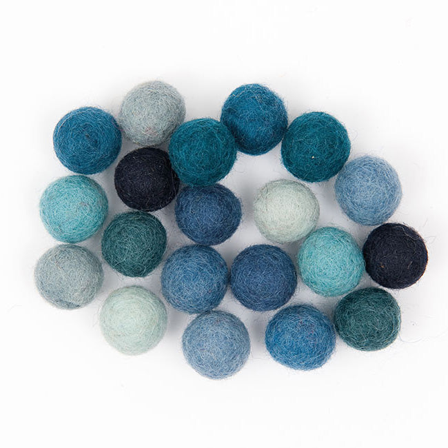 Felt Ball Mix - Blues
