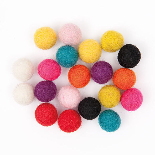 Felt Ball Mix - Bright