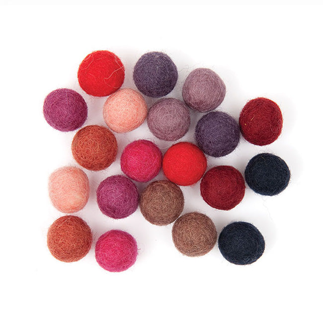 Felt Ball Mix - Berry