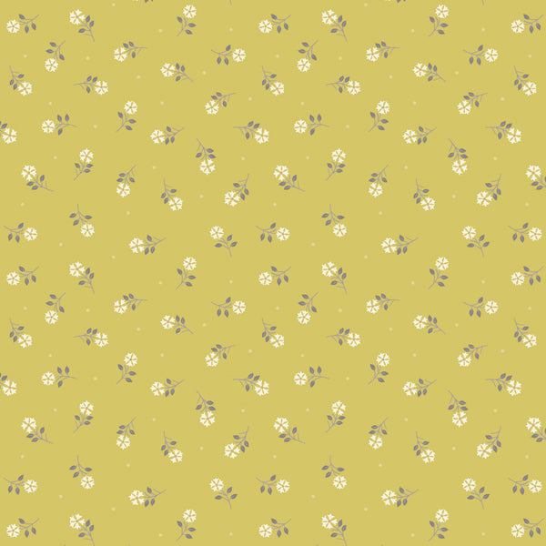 Flo's Little Flowers - Lewis & Irene - Yellow Tiny Flower