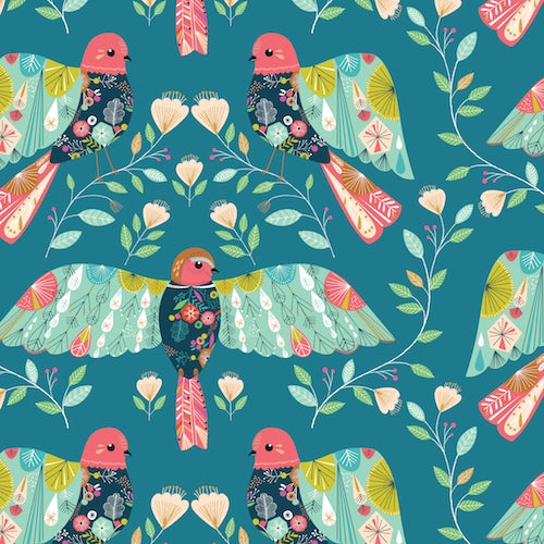 Flock - Dashwood Studio - Birds on Blue