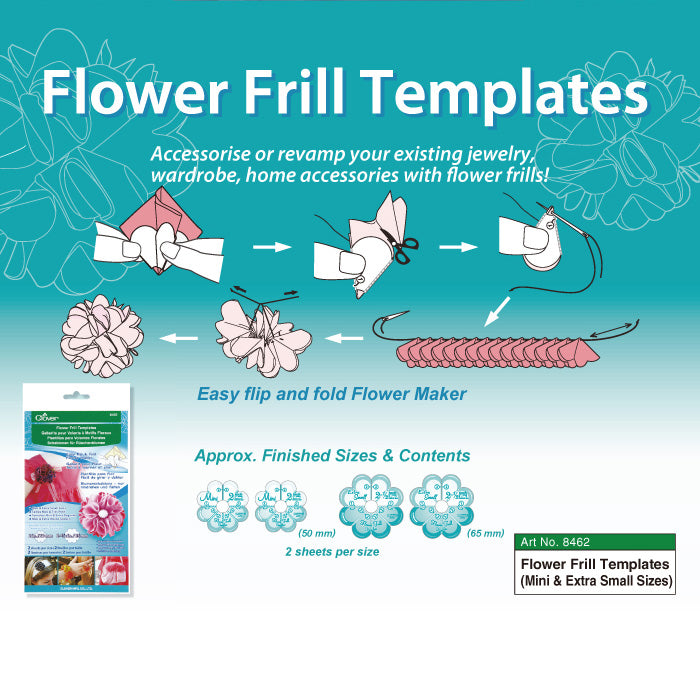 Clover Flower Frill Templates - Small & Medium