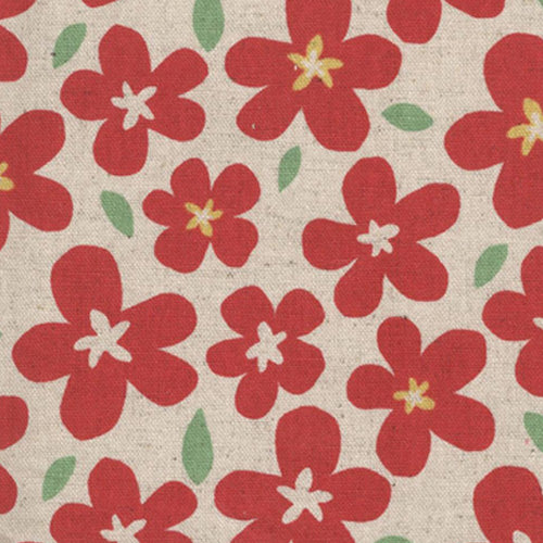 Sevenberry Flower Pop Linen - Red