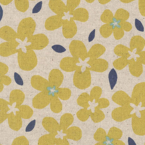 Sevenberry Flower Pop Linen - Yellow