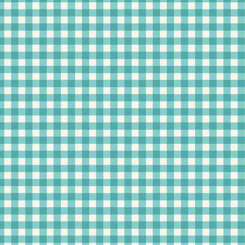 Tea Party - Makower - Turquoise Gingham