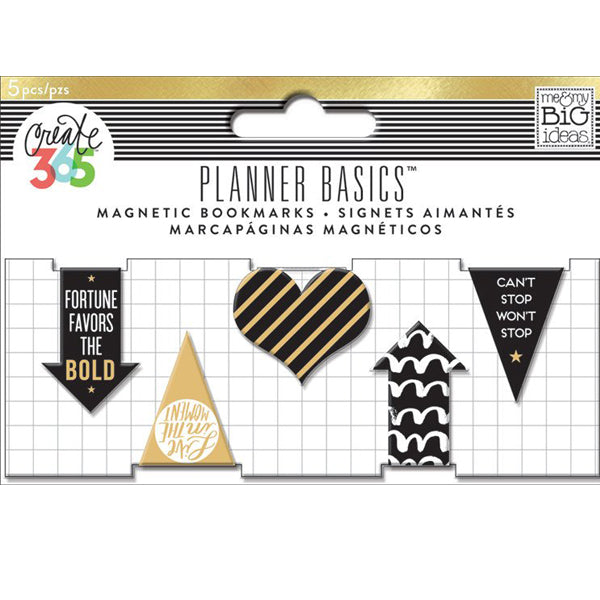 MAMBI Create 365 - Mini Magnetic Page Clips - Gold